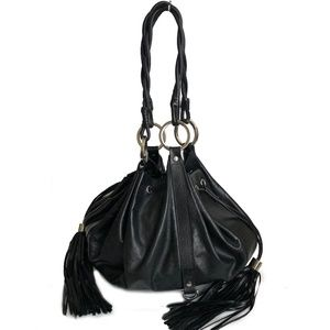 Givenchy Pumpkin Bag Hobo Tote Black Leather